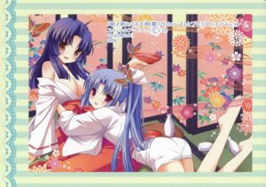 Rating: Safe Score: 36 Tags: an_an_wanco cleavage inugahora_an yukata User: fireattack
