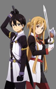 Rating: Safe Score: 18 Tags: asuna_(sword_art_online) kirito sword sword_art_online tagme transparent_png User: Mekdra