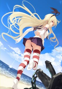 Rating: Questionable Score: 63 Tags: ass cameltoe feet kantai_collection pantsu seifuku shimakaze_(kancolle) shirt_lift skirt_lift suwakana thighhighs thong User: yanis