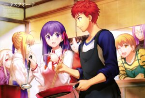 Rating: Safe Score: 32 Tags: emiya_shirou fate/stay_night fate/stay_night_heaven's_feel fujimura_taiga illyasviel_von_einzbern matou_sakura megane rider saber seifuku taskohna toosaka_rin User: drop