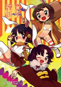 Rating: Questionable Score: 7 Tags: animal_ears bra bunny_ears ichihaya kimono loli miko pantsu thighhighs User: fireattack