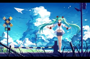 Rating: Safe Score: 61 Tags: baisi_shaonian hatsune_miku landscape see_through vocaloid User: RaulDJ747