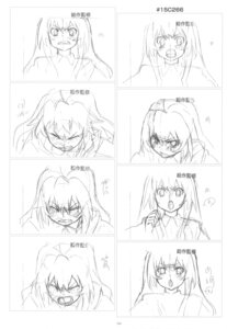 Rating: Safe Score: 3 Tags: aisaka_taiga monochrome sketch toradora! User: superogira
