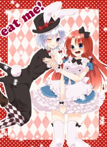 Rating: Safe Score: 5 Tags: alice_in_wonderland cosplay hong_meiling izayoi_sakuya touhou usacan User: Radioactive