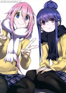 Rating: Safe Score: 22 Tags: kagamihara_nadeshiko kurashima_tomoyasu pantyhose seifuku shima_rin sweater yurucamp User: drop