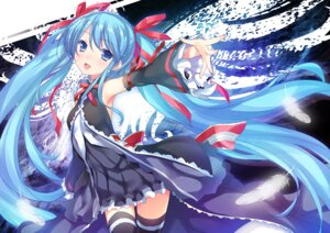 Rating: Safe Score: 53 Tags: 47agdragon dress hatsune_miku thighhighs vocaloid User: 椎名深夏