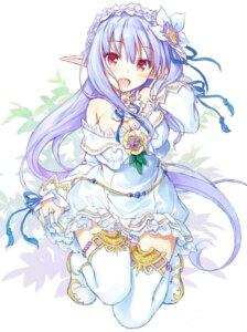 Rating: Safe Score: 50 Tags: august cleavage dress iris_mysteria!_~shoujo_no_tsumugu_yume_no_hiseki~ natsuno_io pointy_ears sketch thighhighs yuu_(iris_mysteria!) User: lounger