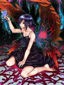 Rating: Safe Score: 17 Tags: blood cleavage dress kirishima_touka tokyo_ghoul wings yuuma2aqua User: Mr_GT