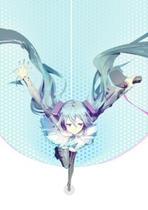 Rating: Safe Score: 39 Tags: hatsune_miku headphones thighhighs vocaloid yyb User: charunetra