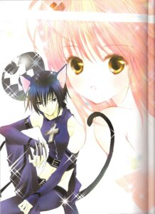 Rating: Safe Score: 4 Tags: animal_ears binding_discoloration black_lynx hinamori_amu peach-pit shugo_chara tsukiyomi_ikuto User: noirblack
