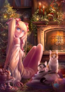 Rating: Safe Score: 32 Tags: christmas dress neko silentcity User: charunetra