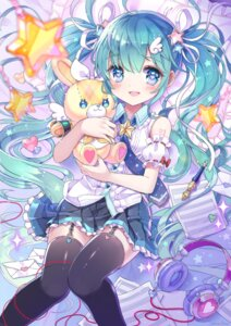 Rating: Safe Score: 63 Tags: hatsune_miku headphones shiori_(xxxsi) stockings tattoo thighhighs vocaloid User: Mr_GT