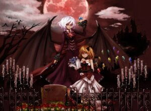 Rating: Safe Score: 11 Tags: dress emerane flandre_scarlet merutoreimu remilia_scarlet touhou wings User: MyNameIs