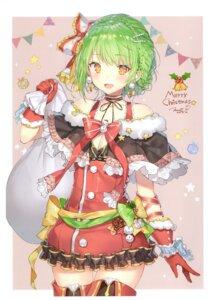 Rating: Questionable Score: 33 Tags: christmas cleavage momoko_(momopoco) sashimi_necoya thighhighs yukari_(momoko) User: kiyoe