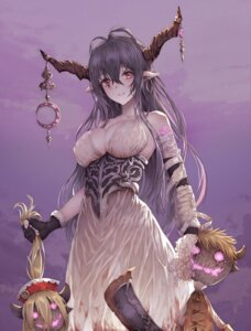 Rating: Questionable Score: 77 Tags: armor bandages cleavage danua granblue_fantasy horns myless no_bra pointy_ears weapon User: mash