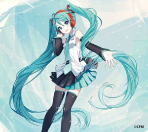 Rating: Safe Score: 53 Tags: hatsune_miku headphones ixima thighhighs vocaloid User: Sunimo