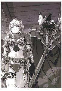 Rating: Questionable Score: 9 Tags: armor bikini_armor carina_(xiao_woo) cleavage garter monochrome sword tagme thighhighs User: Radioactive