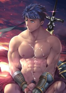 Rating: Explicit Score: 10 Tags: black_monkey_mazjojo cum fire_emblem ike male naked penis User: mattiasc02