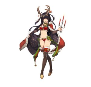 Rating: Questionable Score: 25 Tags: animal_ears bikini_armor christmas fire_emblem fire_emblem_heroes fire_emblem_kakusei heels horns nintendo tharja thighhighs washimoto User: fly24