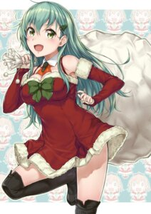 Rating: Safe Score: 43 Tags: chibi christmas cleavage dress kantai_collection komase_(jkp423) kumano_(kancolle) suzuya_(kancolle) thighhighs User: Mr_GT