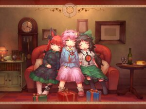 Rating: Safe Score: 11 Tags: christmas kaenbyou_rin komeiji_satori reiuji_utsuho sankuma touhou wallpaper User: Mr_GT