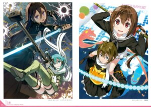 Rating: Safe Score: 25 Tags: 5_nenme_no_houkago a_(kyousougiga) armor gun japanese_clothes kantoku kirito koto kyousougiga seifuku sinon sweater sword sword_art_online un_(kyousougiga) yakushimaru User: Hatsukoi