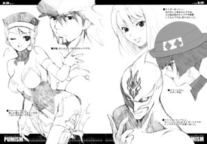 Rating: Safe Score: 9 Tags: cleavage fumio kaburagi_t_kotetsu karina_lyle kriem megane monochrome nathan_seymour sketch tiger_&_bunny ura-fmo User: Hatsukoi