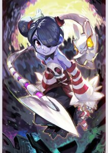 Rating: Safe Score: 9 Tags: no_bra shazhiqiao skullgirls squigly_(skullgirls) weapon User: Mr_GT