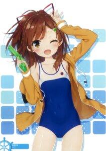 Rating: Safe Score: 56 Tags: gun high_school_fleet irizaki_mei open_shirt peco school_swimsuit swimsuits User: Radioactive