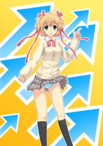 Rating: Safe Score: 17 Tags: 12kyen kamikita_komari little_busters! pantsu seifuku shimapan User: aihost