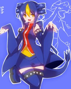 Rating: Safe Score: 20 Tags: anthropomorphization dress garchomp pokemon tail takeshima_(nia) thighhighs User: charunetra