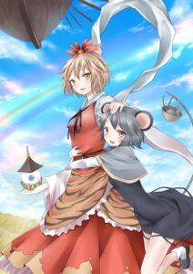 Rating: Safe Score: 13 Tags: animal_ears bon nazrin toramaru_shou touhou User: Nekotsúh