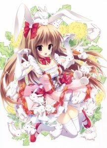 Rating: Safe Score: 75 Tags: animal_ears bunny_ears dress shiramori_yuse thighhighs User: Twinsenzw