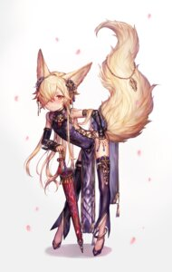 Rating: Safe Score: 25 Tags: animal_ears chinadress crossdress granblue_fantasy heels kou_(granblue_fantasy) skirt_lift tagme tail thighhighs umbrella User: BattlequeenYume