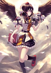 Rating: Safe Score: 32 Tags: pointy_ears shameimaru_aya touhou wings zengxianxin User: Mr_GT