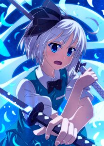 Rating: Safe Score: 24 Tags: konpaku_youmu sazanami_mio sword touhou User: Mr_GT