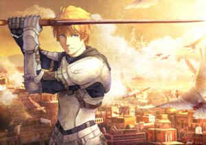 Rating: Safe Score: 15 Tags: aoiakamaou armor fate/prototype fate/stay_night saber_(fate/prototype) sword User: Mr_GT