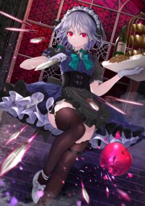 Rating: Safe Score: 63 Tags: heels izayoi_sakuya komazuki_(komaworks240) maid stockings thighhighs touhou weapon User: Mr_GT