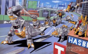 Rating: Safe Score: 5 Tags: grimlock mecha slag sludge snarl swoop takahashi_asao transformers User: Radioactive