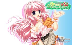 Rating: Safe Score: 14 Tags: akoko cleavage detexted green_strawberry loversoul wallpaper User: fairyren