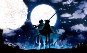 Rating: Safe Score: 36 Tags: fate/grand_order harada_miyuki majin_saber sakura_saber sword User: mash
