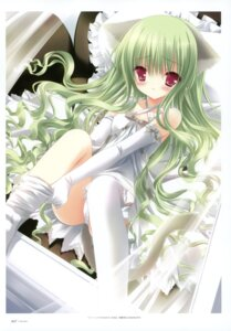 Rating: Questionable Score: 56 Tags: animal_ears bell nekomimi pantsu tail thighhighs tinkle User: crim