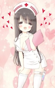 Rating: Safe Score: 45 Tags: cleavage erect_nipples nurse open_shirt shiina_melon thighhighs User: charunetra