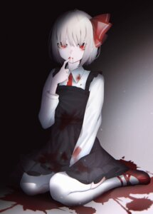 Rating: Safe Score: 14 Tags: blood migihidari_(puwako) rumia thighhighs touhou User: Mr_GT