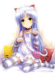 Rating: Safe Score: 150 Tags: angel_beats! animal_ears goto-p nekomimi tail tenshi thighhighs User: Aurelia