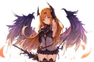 Rating: Safe Score: 65 Tags: armor chitori dark_angel_olivia horns shingeki_no_bahamut sword thighhighs wings User: RyuZU