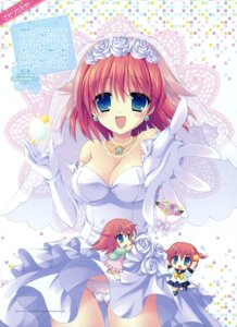 Rating: Questionable Score: 33 Tags: akarui_kazokuhou_keikakutsu! chibi cleavage dress pantsu sasorigatame wedding_dress User: crim