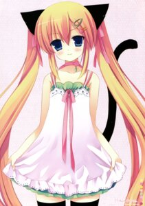 Rating: Safe Score: 64 Tags: animal_ears natsume_eri nekomimi thighhighs User: Radioactive