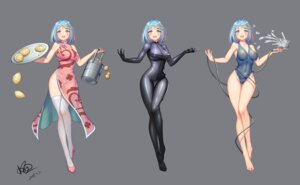 Rating: Questionable Score: 49 Tags: bodysuit character_design chinadress erect_nipples heels konishi_(565112307) nipples no_bra see_through swimsuits thighhighs User: BattlequeenYume