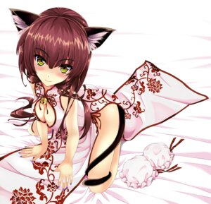 Rating: Safe Score: 75 Tags: animal_ears chinadress cleavage kitou_kaitai nekomimi nopan tail User: Mr_GT
